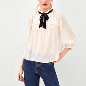 Zara romantic top